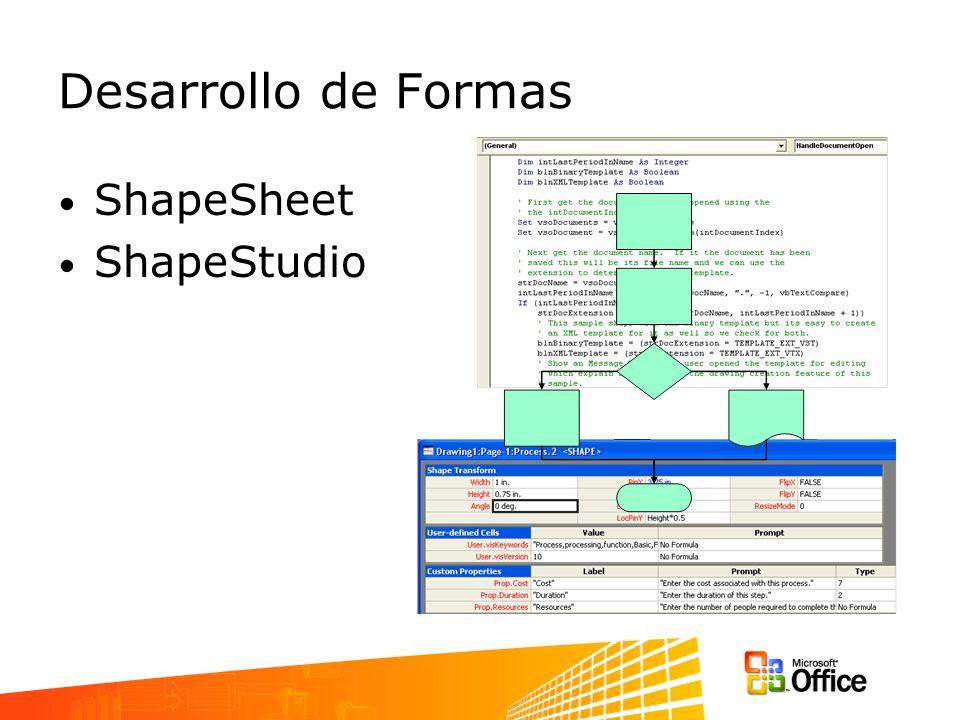 Desarrollo de Formas ShapeSheet ShapeStudio