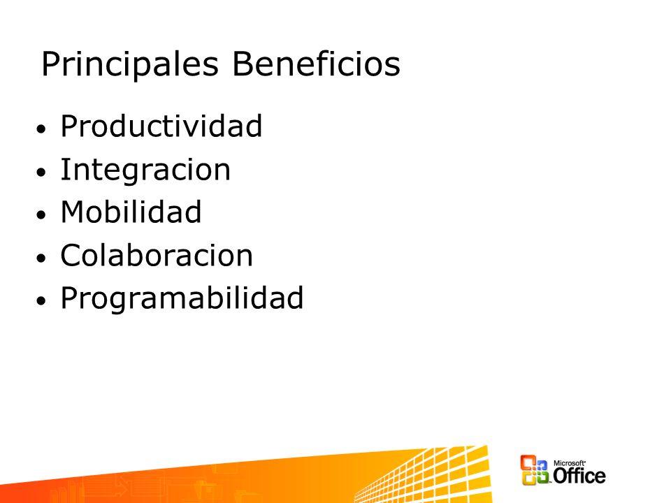 Arquitectura General Logica de aplicacion –COM Add-in (VB, VB.NET, C#) Eventos –AddAdvise –WithEvents Integracion –XML documents –ODBC databases Application logic VBA Event handler