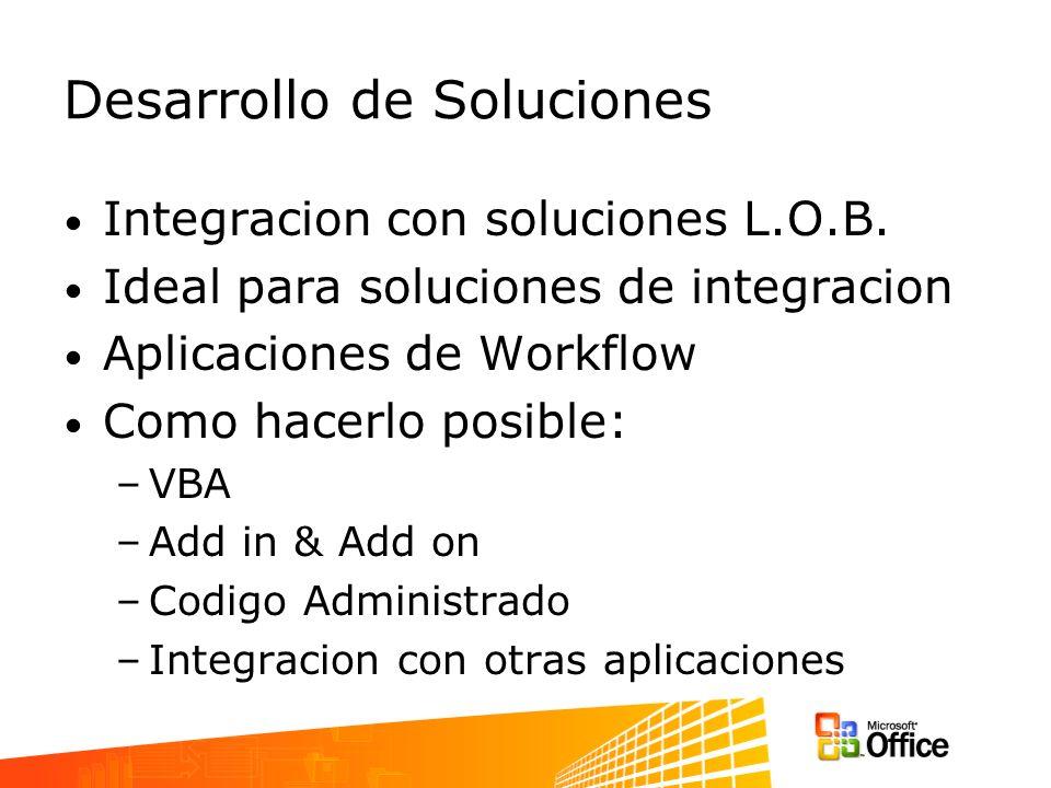 Desarrollo de Soluciones Integracion con soluciones L.O.B.