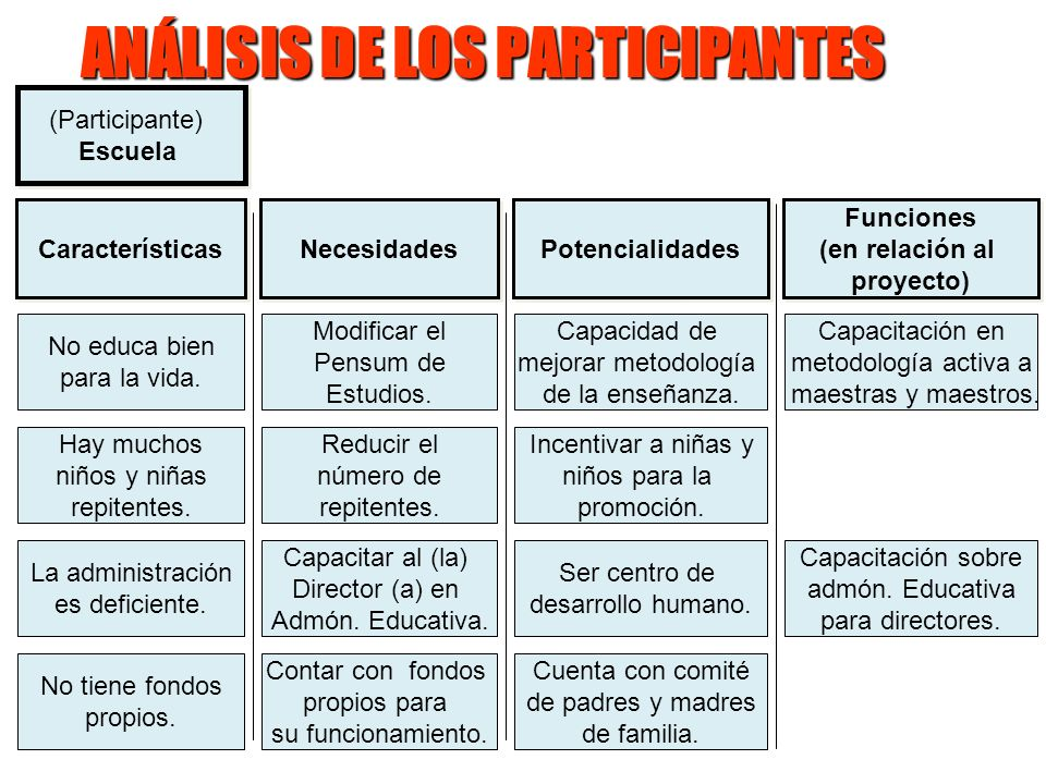 Ejecutores Funciones (en relación al proyecto) Funciones (en relación al proyecto) Dirección Departamental de Educación Capacitación en metodología ac