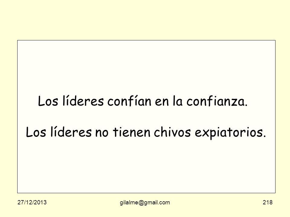 27/12/2013gilalme@gmail.com217 El liderazgo es saber improvisar