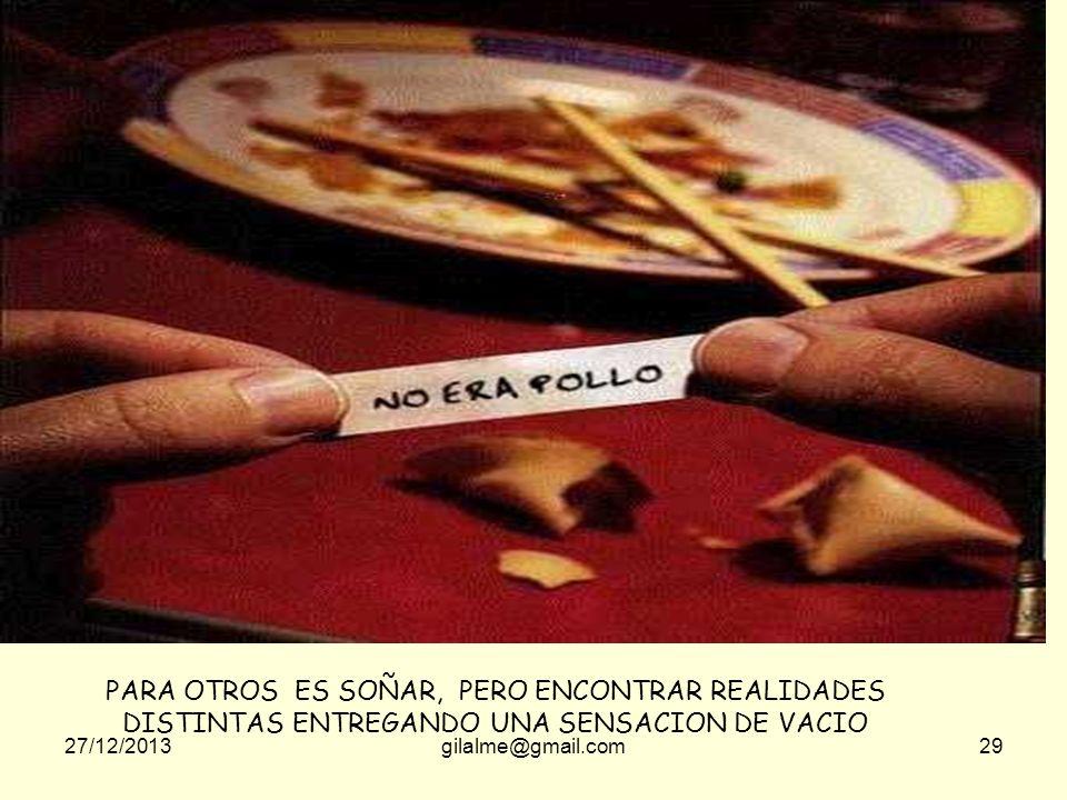 27/12/2013gilalme@gmail.com28 PARA ALGUNOS ES UN SUEÑO DE BELLEZA Y ALGO DE ESFUERZO DONDE HAY LOGROS DIA A DIA