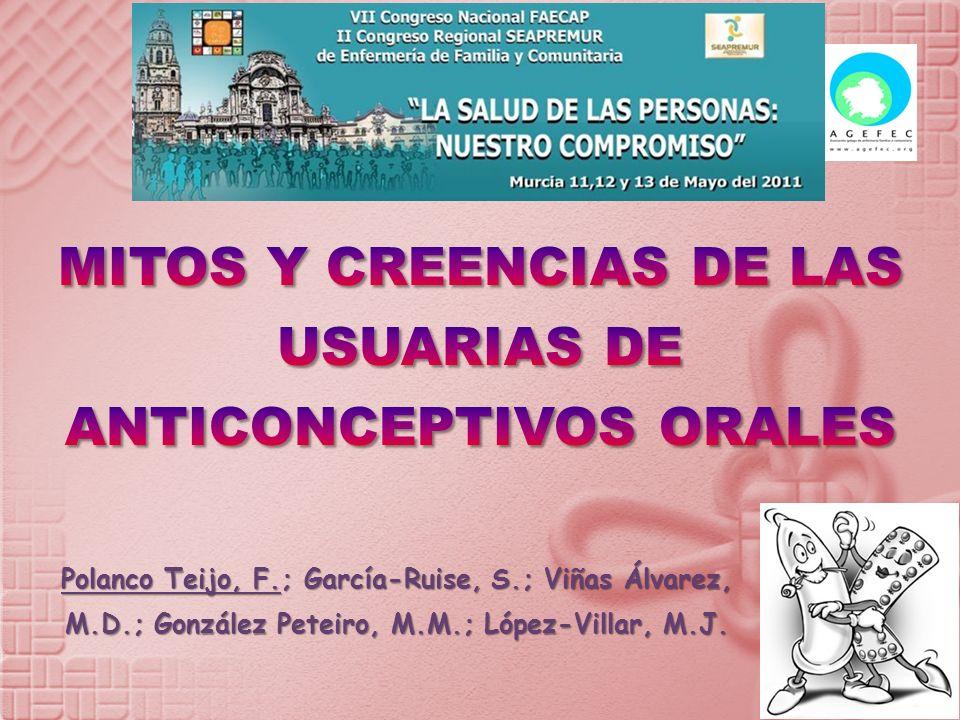 Polanco Teijo, F.; García-Ruise, S.; Viñas Álvarez, M.D.; González Peteiro, M.M.; López-Villar, M.J.