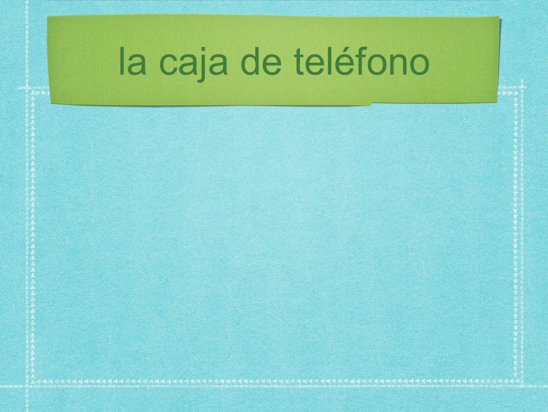 la caja de teléfono