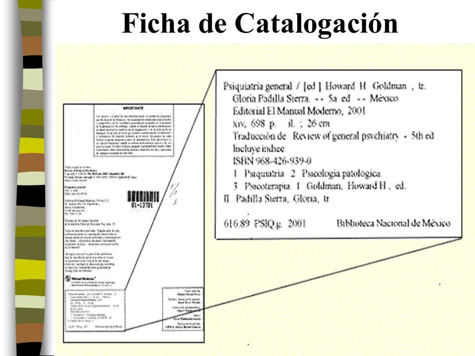 12 Ficha de Catalogación