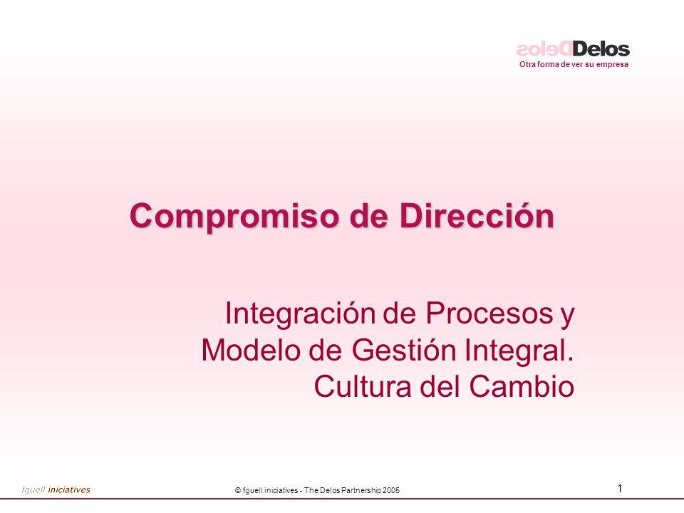 Otra forma de ver su empresa © fguell iniciatives - The Delos Partnership 2005 1 Compromiso de Dirección Integración de Procesos y Modelo de Gestión I