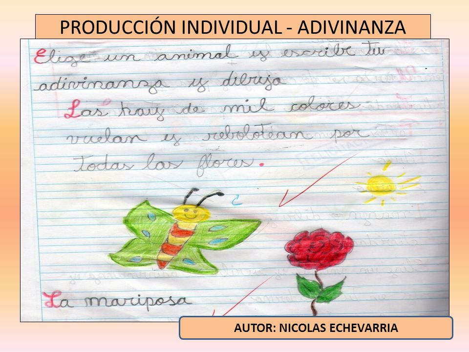 PRODUCCIÓN INDIVIDUAL - ADIVINANZA AUTOR: NICOLAS ECHEVARRIA