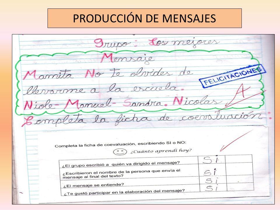 PRODUCCIÓN DE MENSAJES