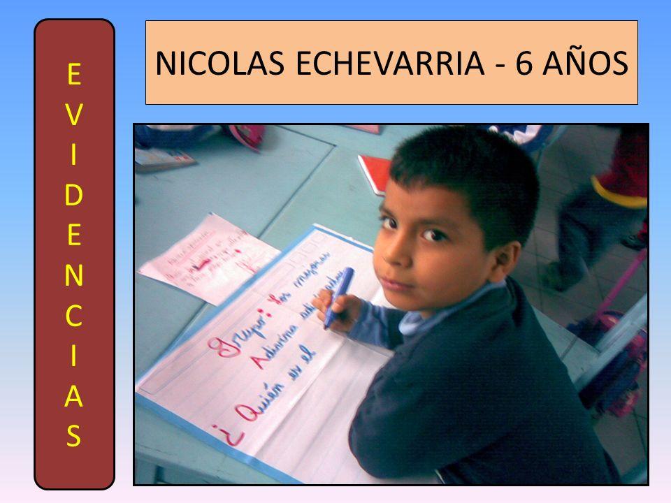 EVIDENCIASEVIDENCIAS NICOLAS ECHEVARRIA - 6 AÑOS