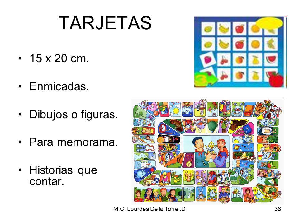 M.C. Lourdes De la Torre :D38 TARJETAS 15 x 20 cm. Enmicadas. Dibujos o figuras. Para memorama. Historias que contar.