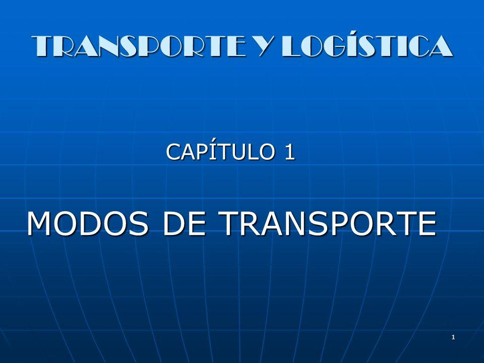1 TRANSPORTE Y LOGÍSTICA CAPÍTULO 1 MODOS DE TRANSPORTE