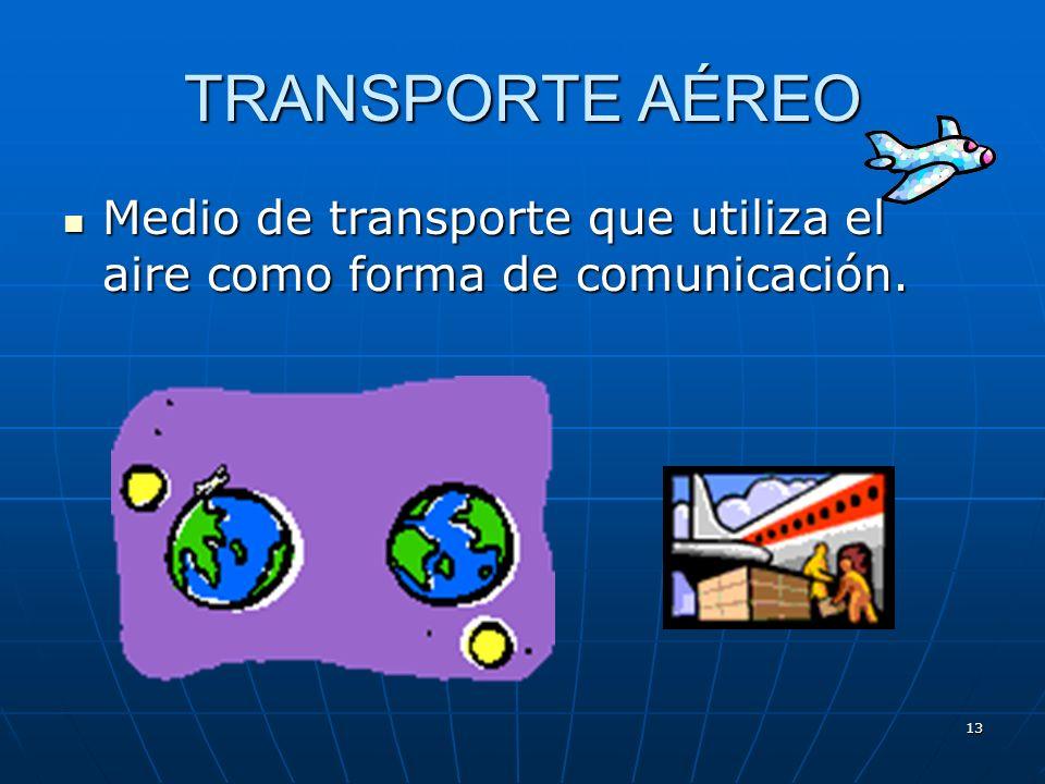 12 Desventajas del transporte marítimo Necesidad de infraestructuras en tierra y de servicios aduaneros Necesidad de infraestructuras en tierra y de s