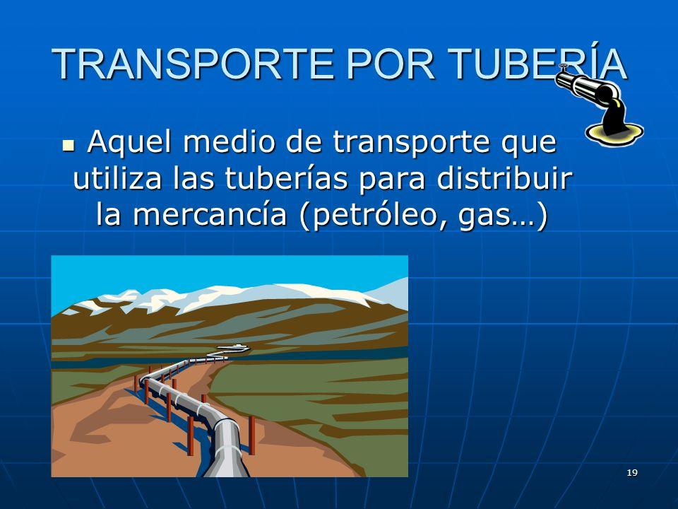 18 Desventajas del transporte fluvial Gran cantidad de material de arrastre y sedimentación de los ríos, que incrementa el problema de encallar Gran c