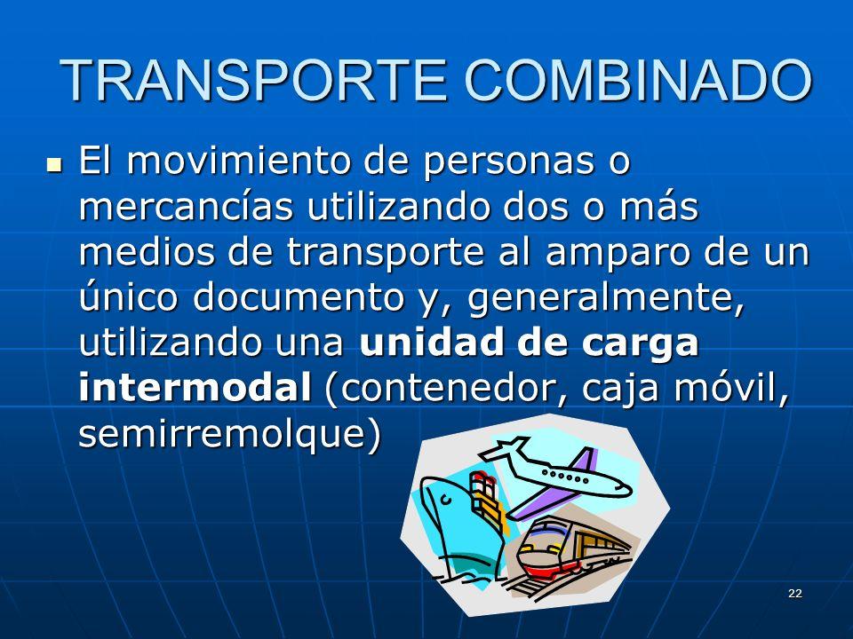 21 Desventajas del transporte por tubería Limitado a determinadas mercancías ( gas, petróleo..) Limitado a determinadas mercancías ( gas, petróleo..)