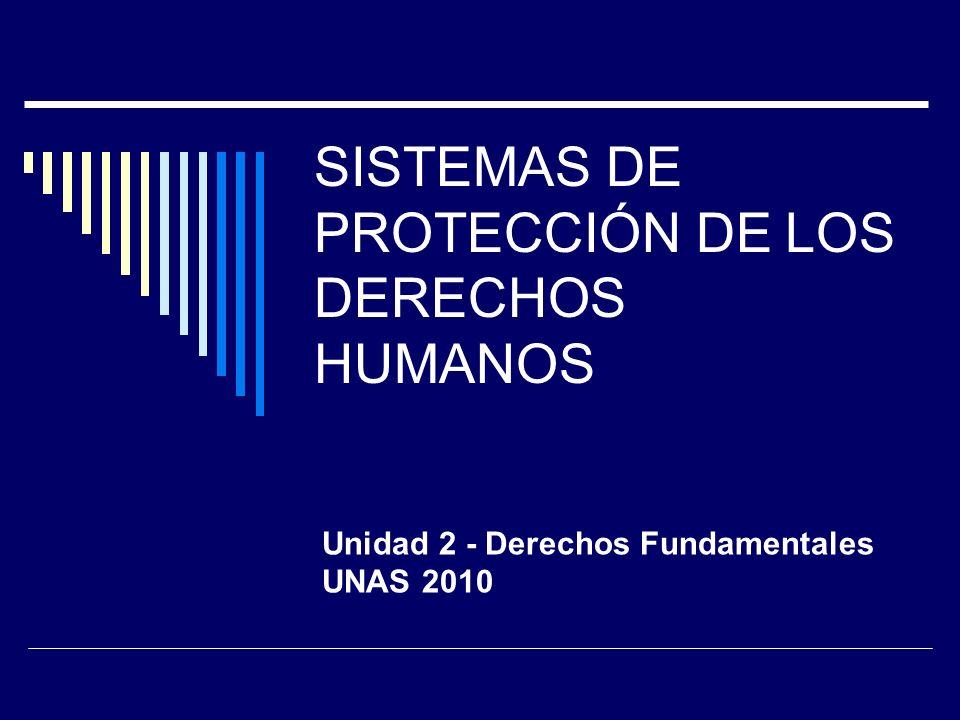 SISTEMAS DE PROTECCIÓN DE LOS DERECHOS HUMANOS Unidad 2 - Derechos Fundamentales UNAS 2010