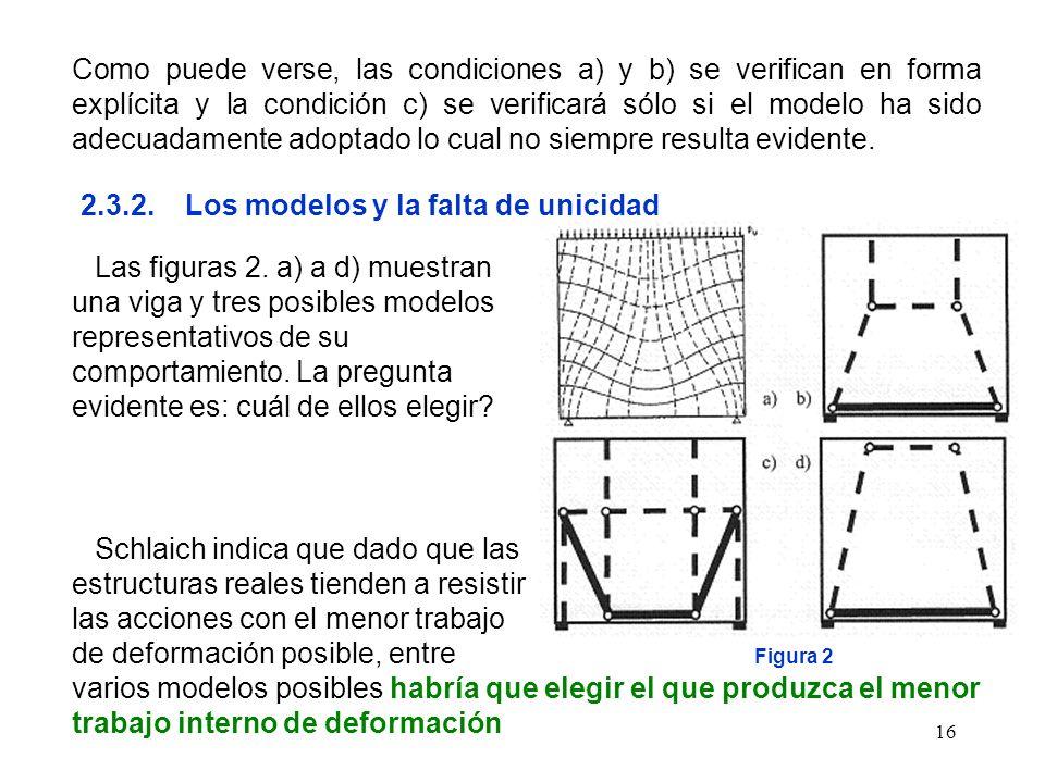 16 Como puede verse, las condiciones a) y b) se verifican en forma explícita y la condición c) se verificará sólo si el modelo ha sido adecuadamente a
