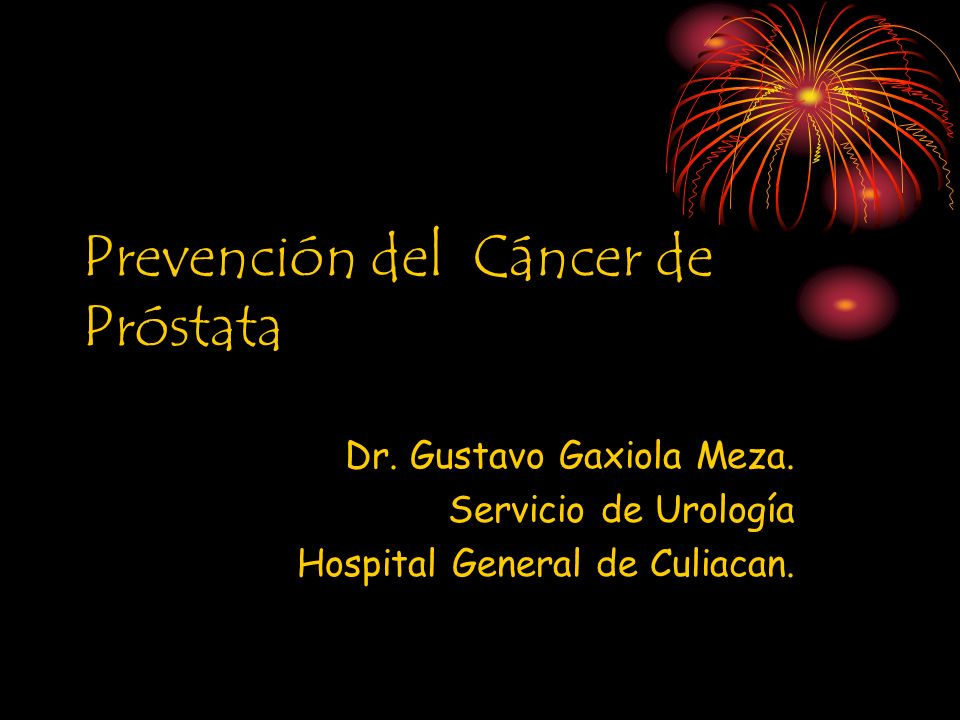 TENDENCIA DEL CANCER DE PROSTATA.