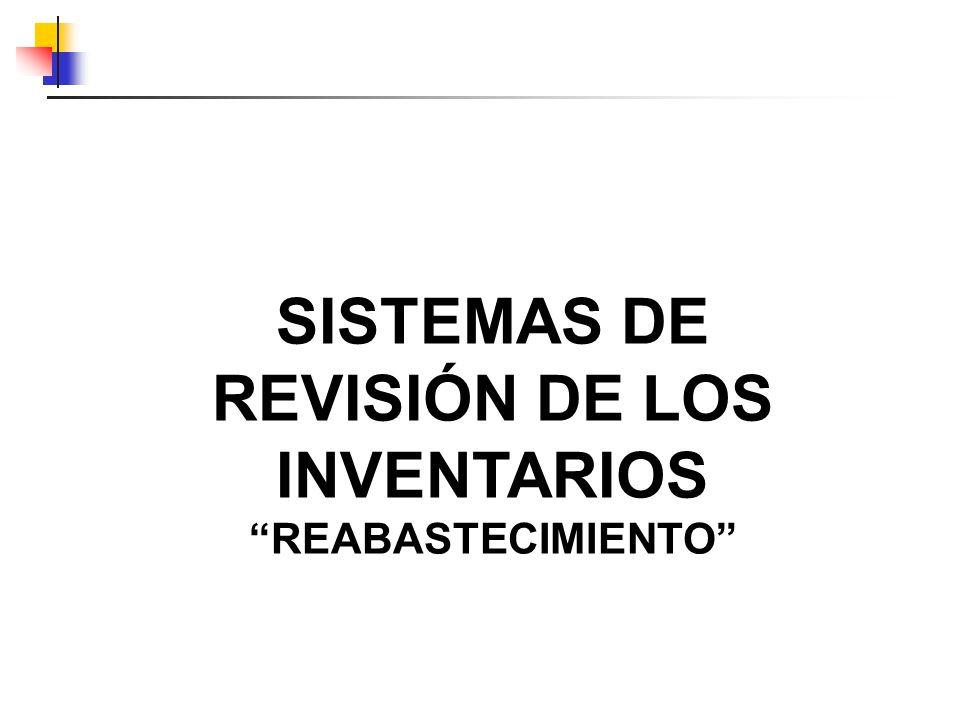 SISTEMAS DE REVISIÓN DE LOS INVENTARIOS REABASTECIMIENTO
