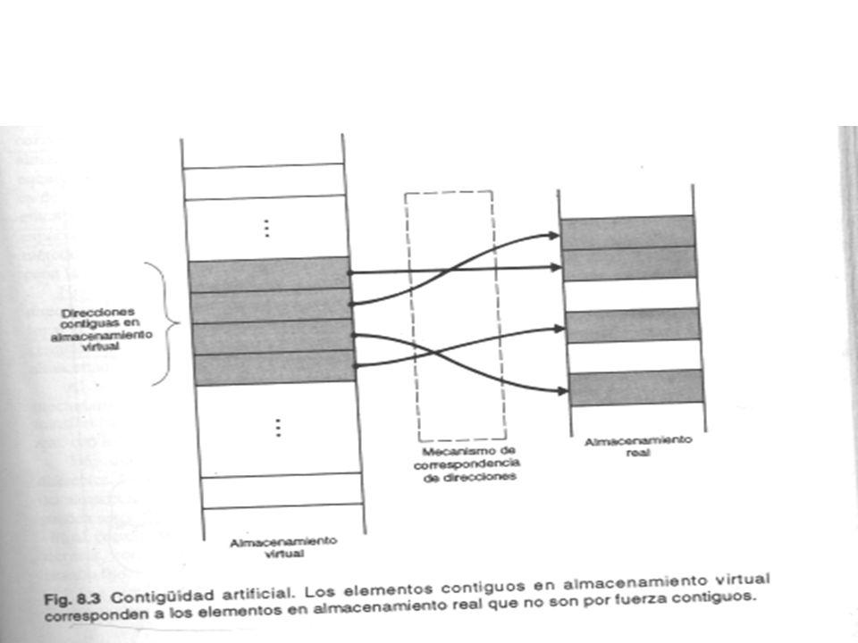 Almacenamiento en múltiples niveles La memoria virtual se basa en un esquema de 2 niveles para el almacenamiento.