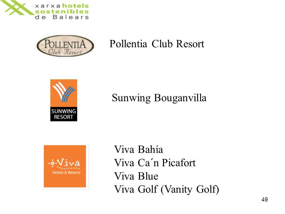 49 Pollentia Club Resort Sunwing Bouganvilla Viva Bahía Viva Ca´n Picafort Viva Blue Viva Golf (Vanity Golf)