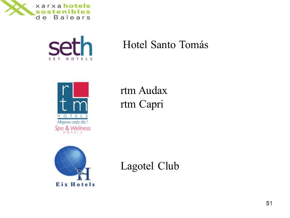 51 Hotel Santo Tomás rtm Audax rtm Capri Lagotel Club
