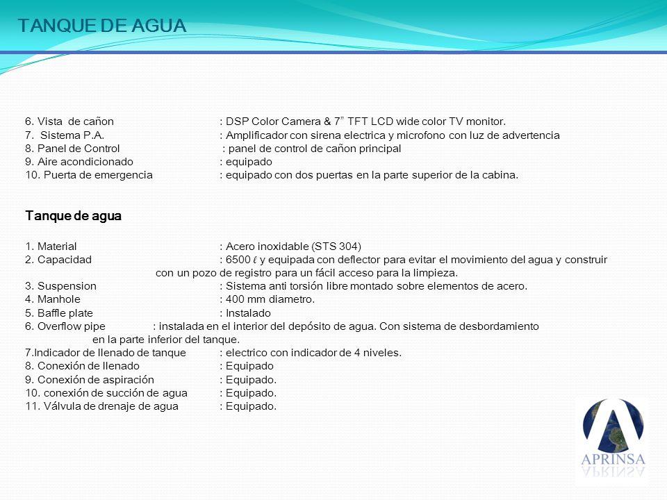TANQUES CON MEZCLAS Tanque de espuma 1Capacidad: 100 litros.