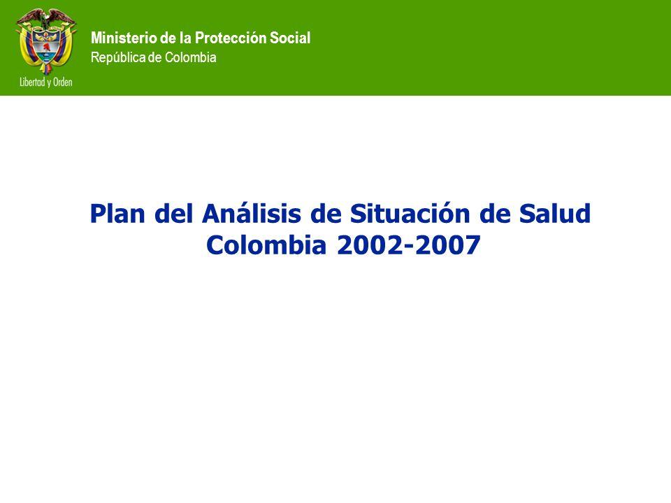 Ministerio de la Protección Social República de Colombia Programas, proyectos e intervenciones de promoción y prevención para: Municipios que reportan No.