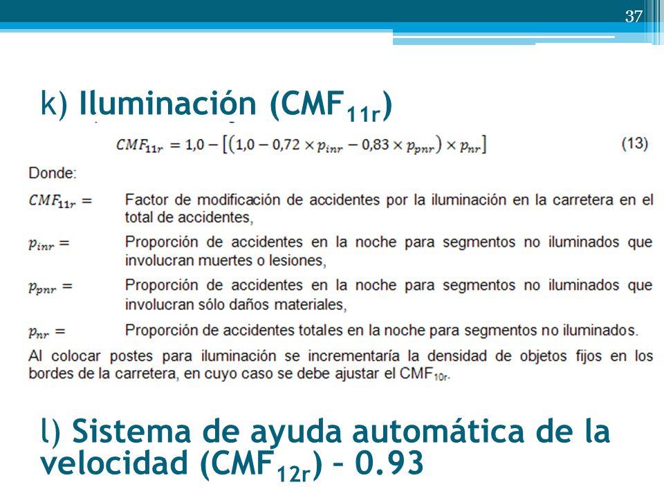 k) Iluminación (CMF 11r ) 37 l) Sistema de ayuda automática de la velocidad (CMF 12r ) – 0.93