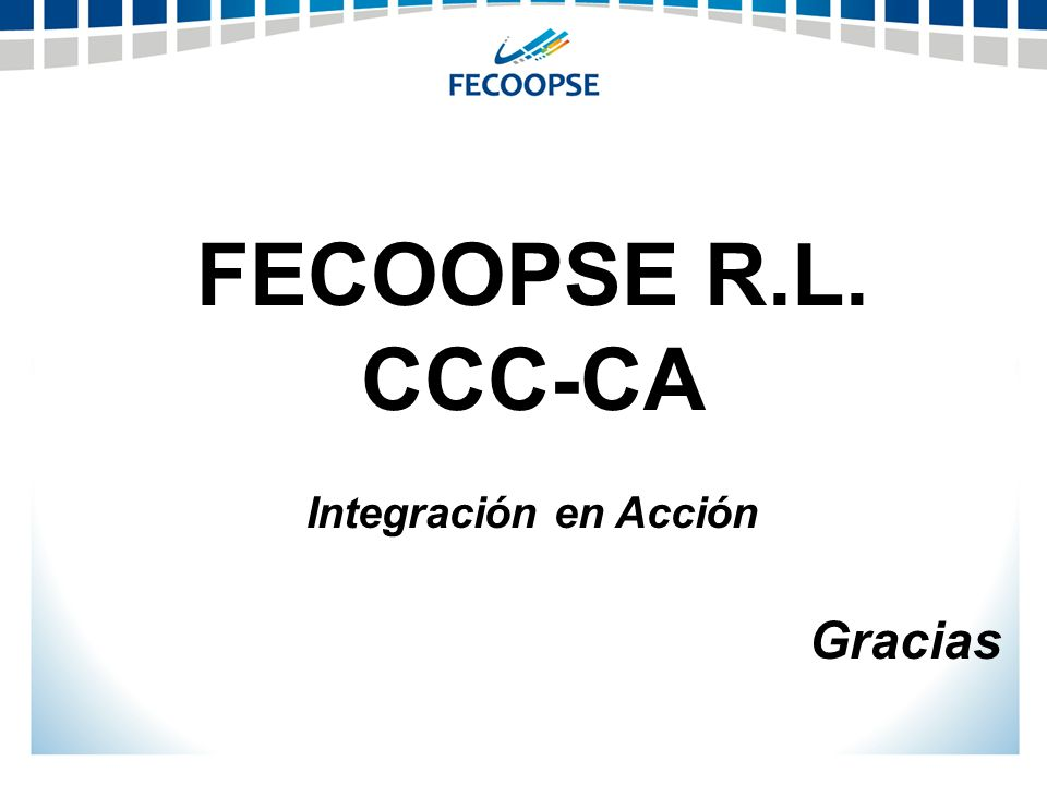 FECOOPSE R.L. CCC-CA Integración en Acción Gracias
