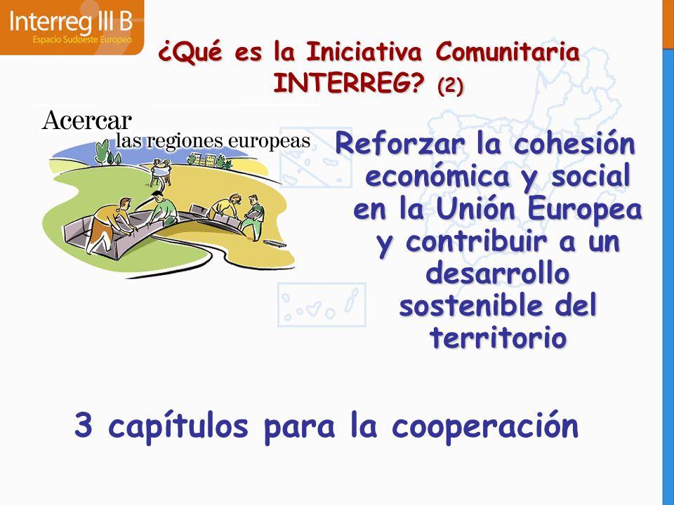 Pretende desarrollar centros económicos y sociales transfronterizos mediante estrategias comunes de desarrollo ¿Qué es la Iniciativa Comunitaria INTERREG.