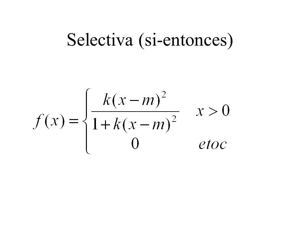 Selectiva (si-entonces)