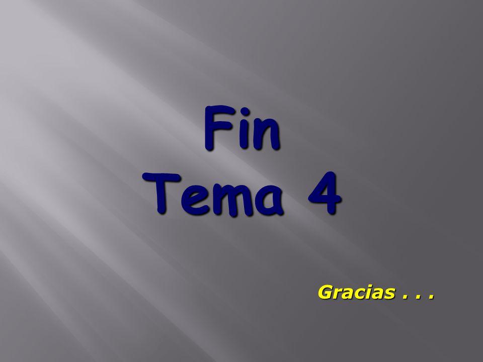 Fin Tema 4 Gracias...