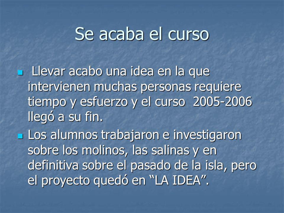 Manos a la obra El I.E.S. Arrecife solicitó por escrito la sesión del molino y sus componentes al Cabildo de Lanzarote, la respuesta de la Corporación