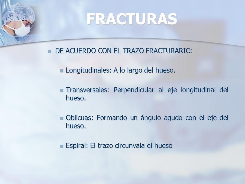 Fractura transversalesFracturas oblicuasFracturas conminutas FRACTURAS