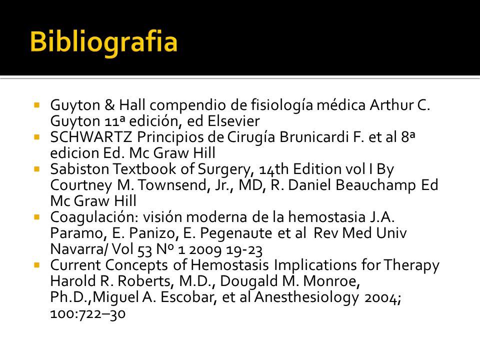 Guyton & Hall compendio de fisiología médica Arthur C. Guyton 11ª edición, ed Elsevier SCHWARTZ Principios de Cirugía Brunicardi F. et al 8ª edicion E
