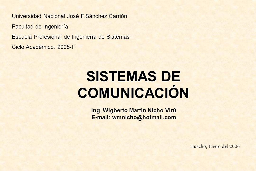 Universidad Nacional José F.Sánchez Carrión Facultad de Ingeniería Escuela Profesional de Ingeniería de Sistemas Ciclo Académico:2005-II SISTEMAS DE C