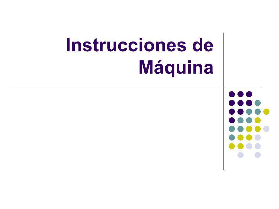 Instrucciones de Máquina