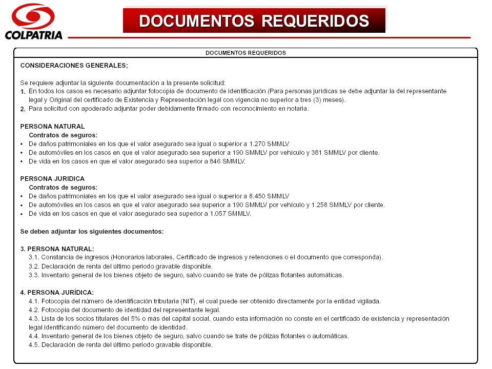 SUBGERENCIA DE CAPACITACION COMERCIAL DOCUMENTOS REQUERIDOS