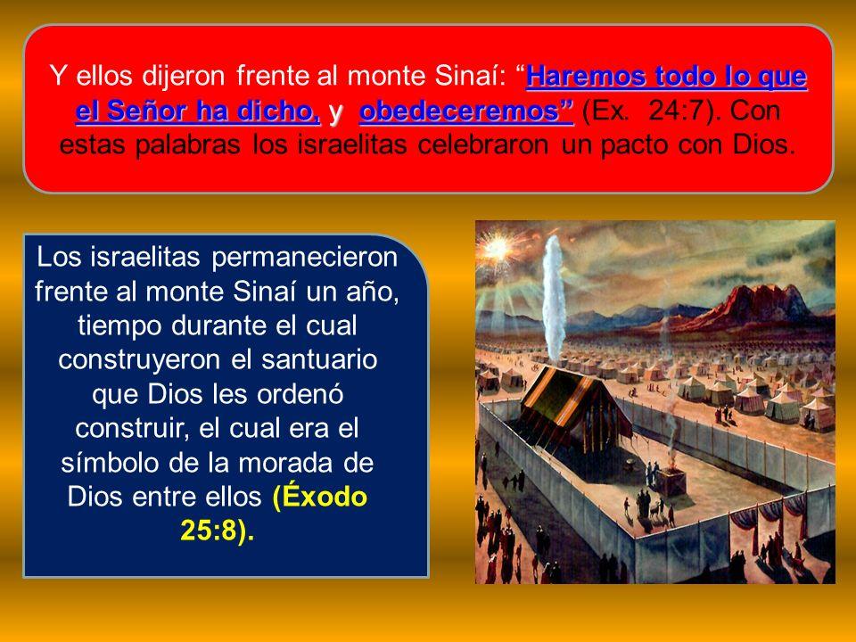 Haremos todo lo que el Señor ha dicho, y obedeceremos Y ellos dijeron frente al monte Sinaí: Haremos todo lo que el Señor ha dicho, y obedeceremos (Ex