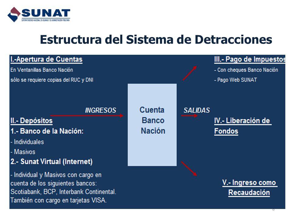 8 Estructura del Sistema de Detracciones