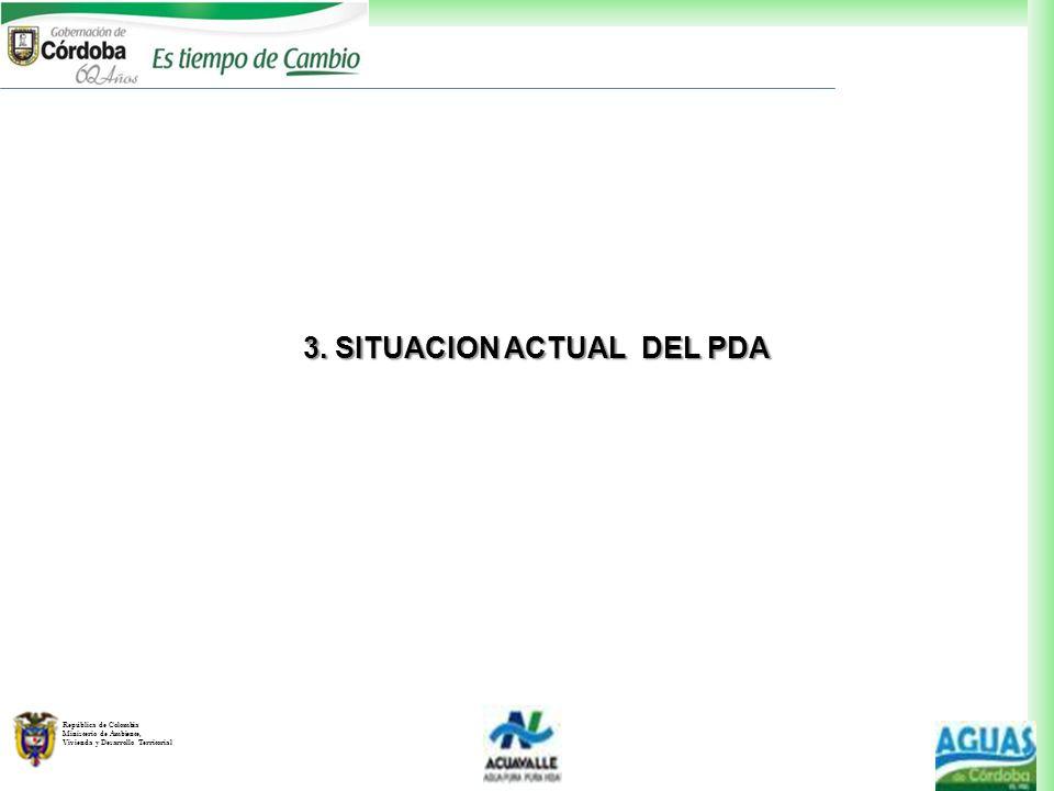 República de Colombia Ministerio de Ambiente, Vivienda y Desarrollo Territorial 3. SITUACION ACTUAL DEL PDA