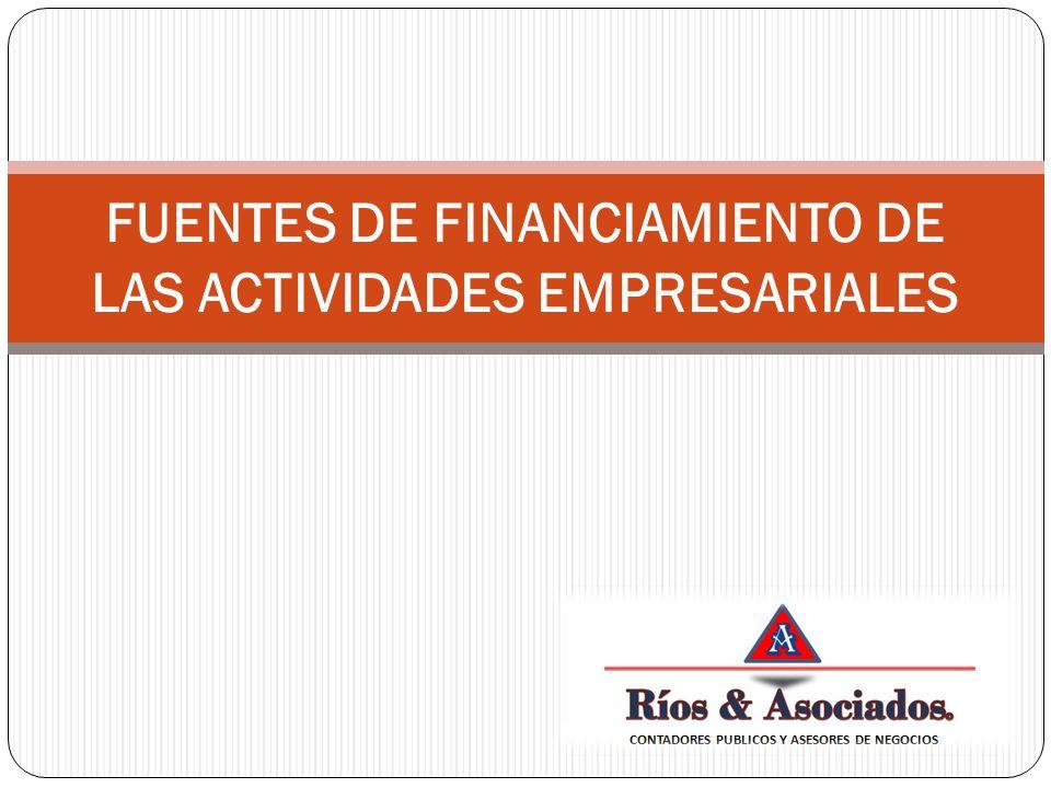 Los fondos para financiar una empresa se pueden obtener de diversas fuentes.