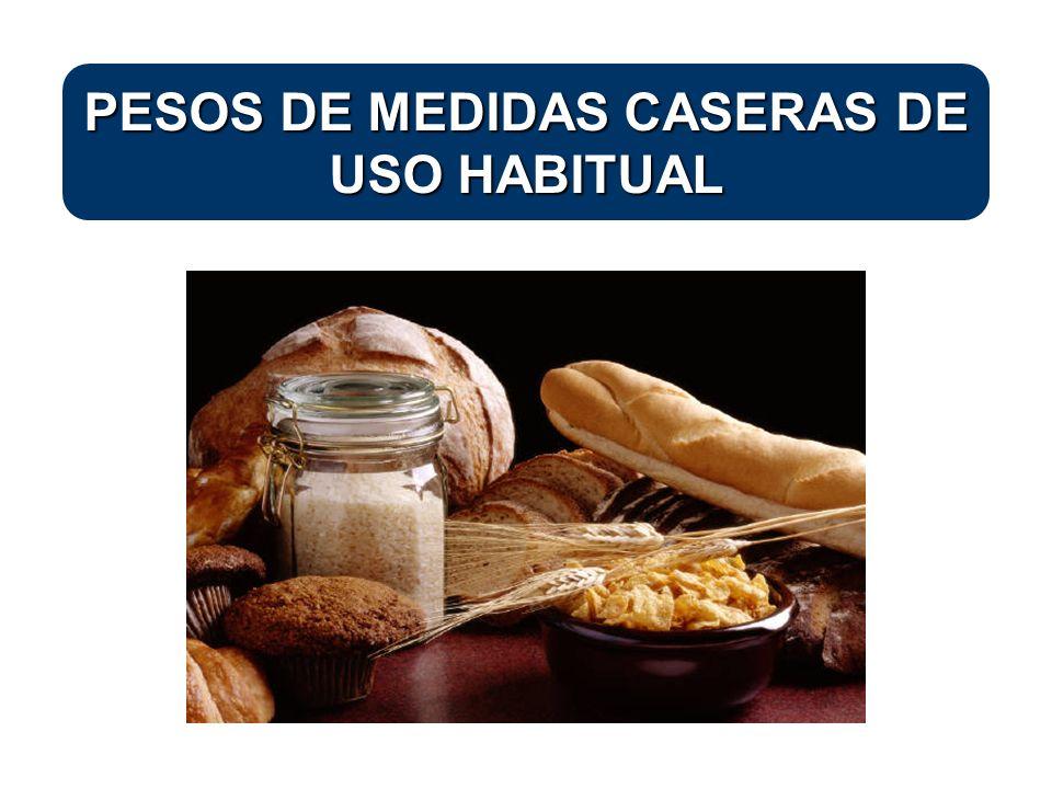 La valoración de la dieta exige el conocimiento de las cantidades de los alimentos más habituales, así como de los ingredientes que componen las recetas empleadas.