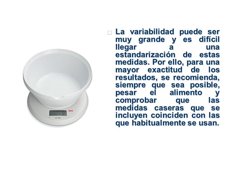 La información que figura en el envase del alimento puede ser también muy útil para este fin, pues para algunos productos la diversidad es grande.