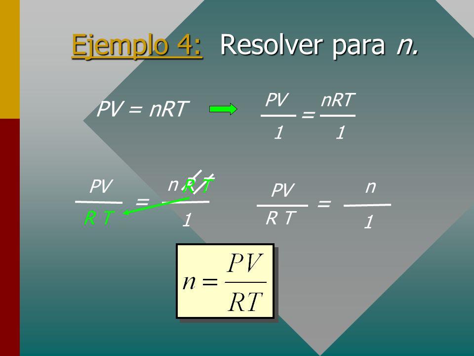 Cruces para factores Cuando en una fórmula sólo hay dos términos separados por un signo igual, se pueden usar los cruces. ¡Cruces sólo para factores!