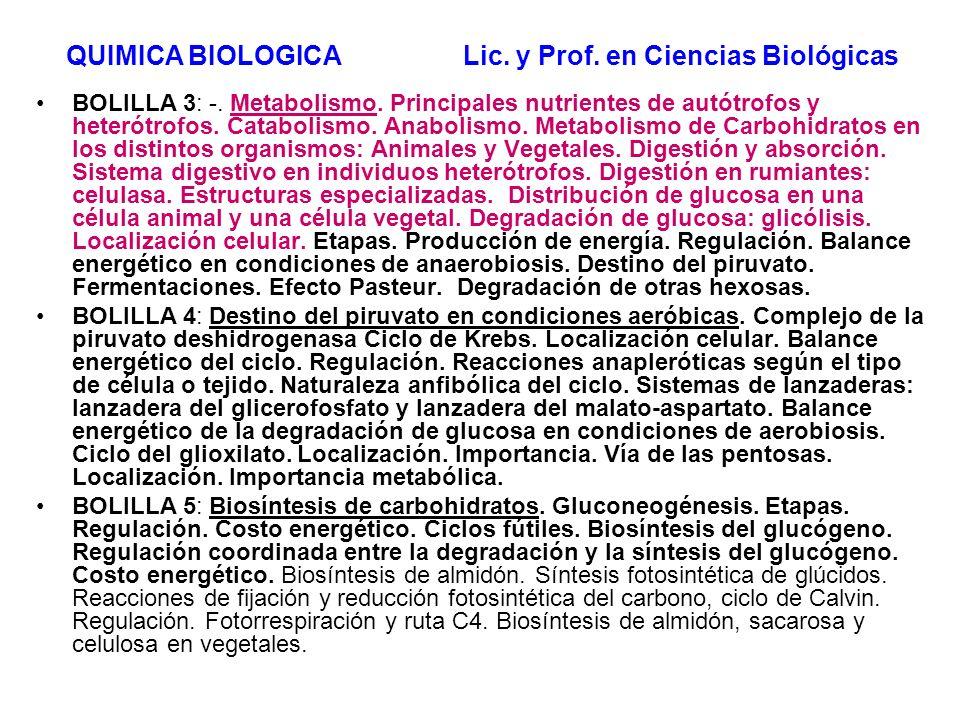 BOLILLA 3: -. Metabolismo. Principales nutrientes de autótrofos y heterótrofos. Catabolismo. Anabolismo. Metabolismo de Carbohidratos en los distintos