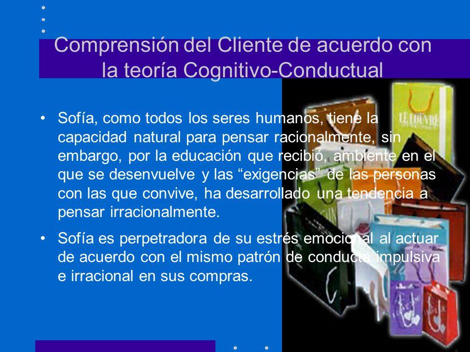 Comprensión del Cliente de acuerdo con la teoría Cognitivo-Conductual Sofía, como todos los seres humanos, tiene la capacidad natural para pensar raci