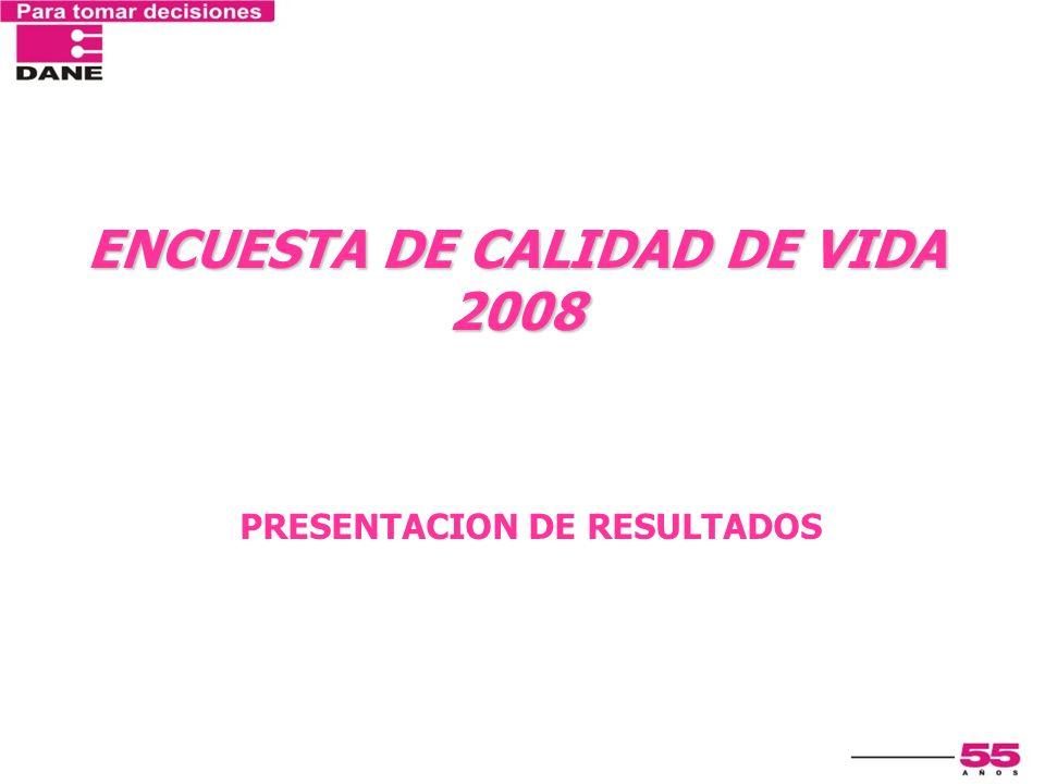 PRESENTACION DE RESULTADOS ENCUESTA DE CALIDAD DE VIDA 2008