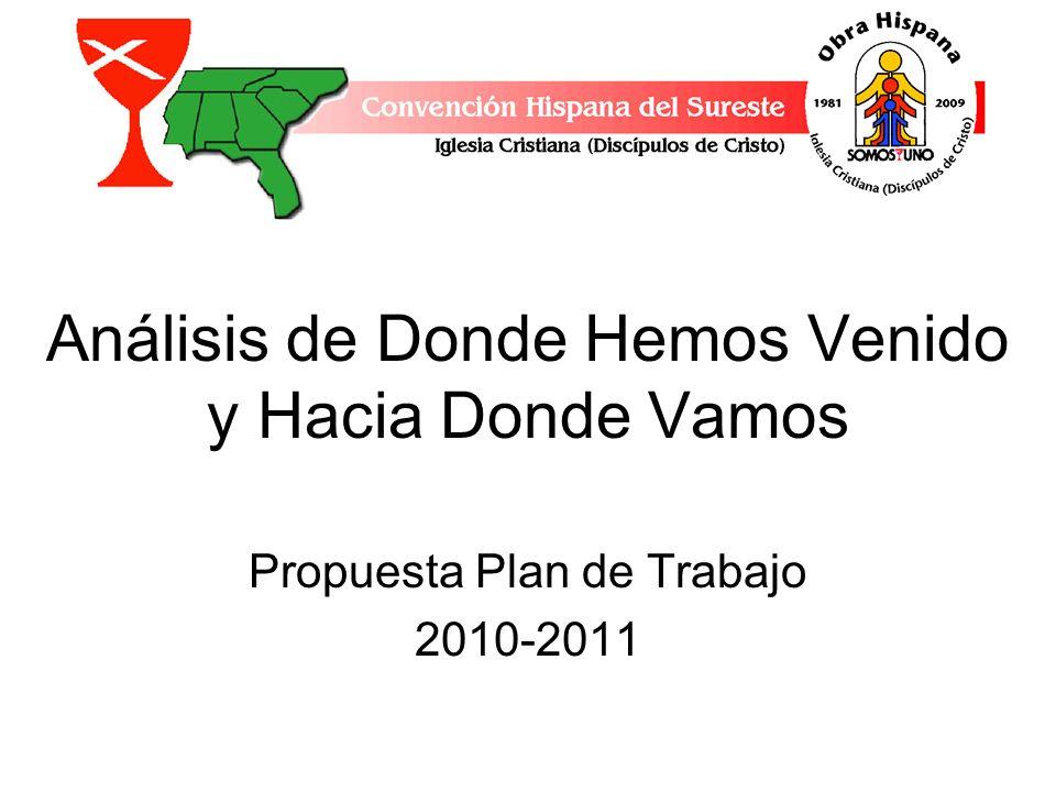 Análisis de Donde Hemos Venido y Hacia Donde Vamos Propuesta Plan de Trabajo 2010-2011
