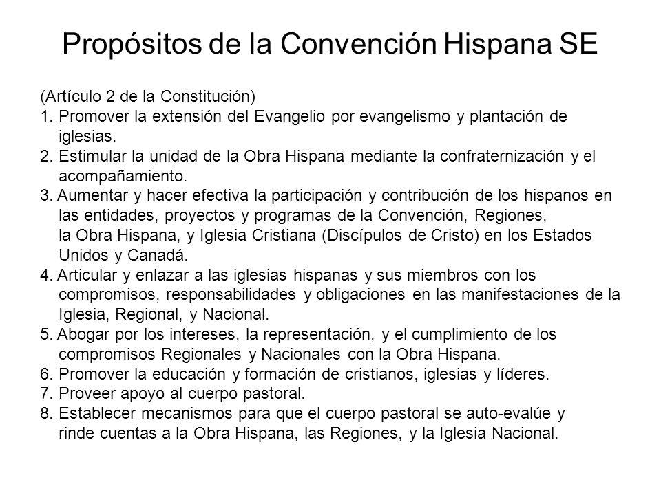(Artículo 2 de la Constitución) 1. Promover la extensión del Evangelio por evangelismo y plantación de iglesias. 2. Estimular la unidad de la Obra His